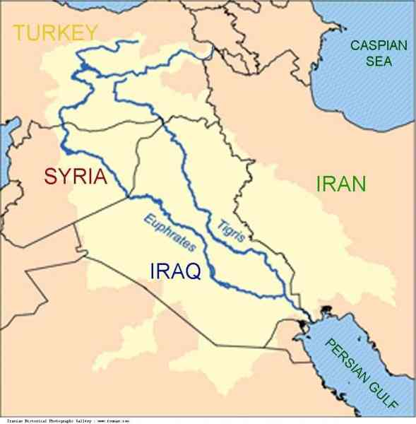 Map Of The Tigris And Euphrates River Holidaymapq Com