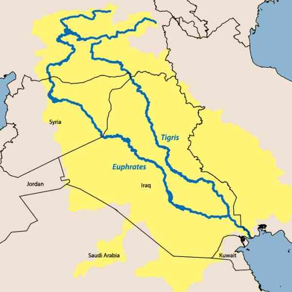 map of the tigris and euphrates river holidaymapqcom