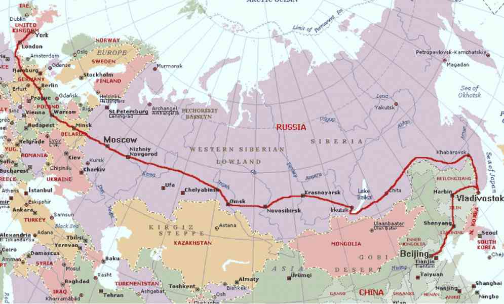 map of the trans siberian railroad 184 Map Of The Trans Siberian Railroad