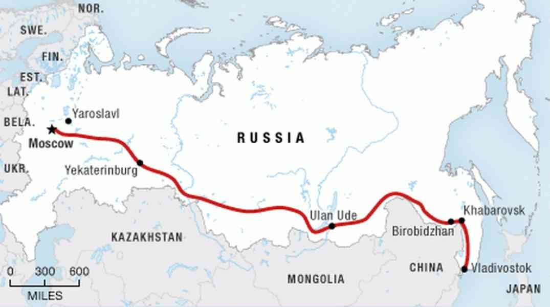 map of the trans siberian railroad 277 Map Of The Trans Siberian Railroad
