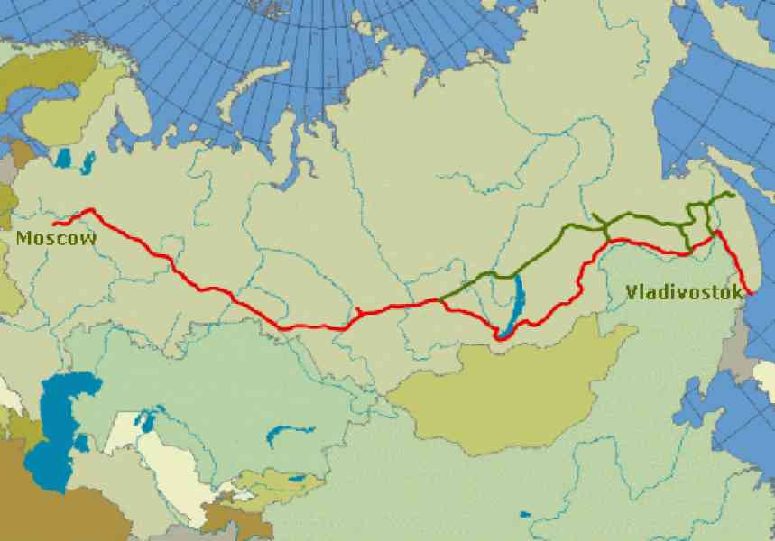 map of the trans siberian railroad 569 Map Of The Trans Siberian Railroad