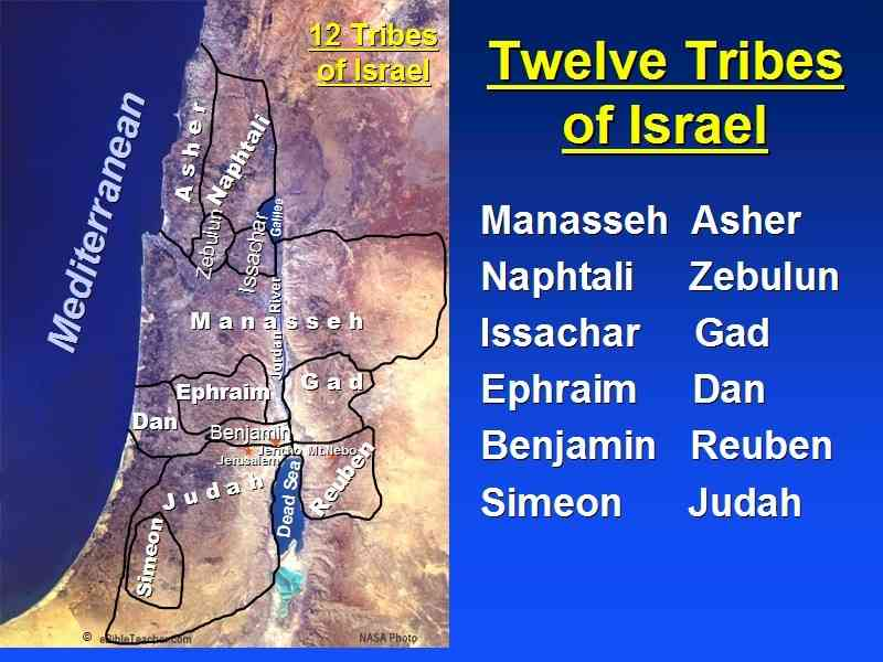 map of the tribes of israel 6 Map Of The Tribes Of Israel