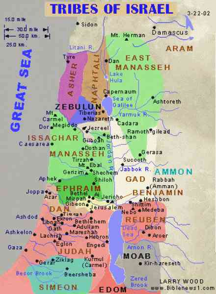 map of the tribes of israel 14 Map Of The Tribes Of Israel