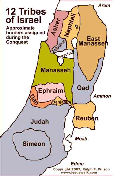 map of the tribes of israel 306 Map Of The Tribes Of Israel