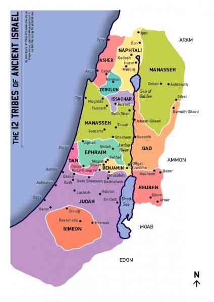 map of the tribes of israel 140 Map Of The Tribes Of Israel