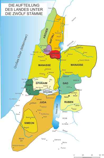 map of the tribes of israel 788 Map Of The Tribes Of Israel