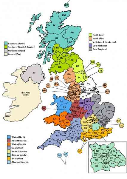 map of the uk regions