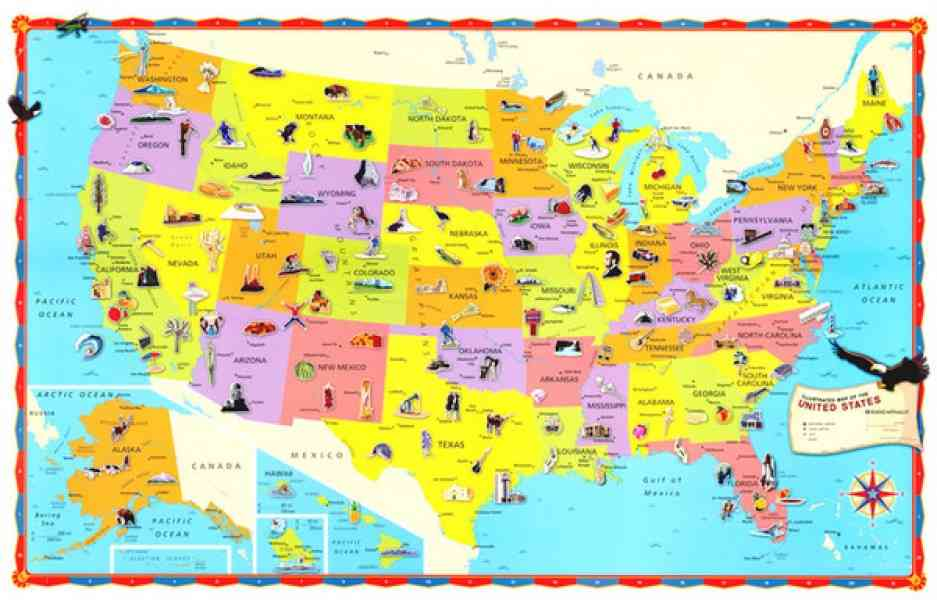 Map Of The United States For Kids HolidayMapQcom
