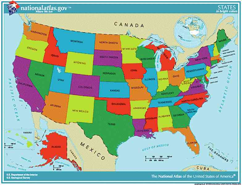 Map Of The United States Labeled Map Holiday Travel - The us map labeled