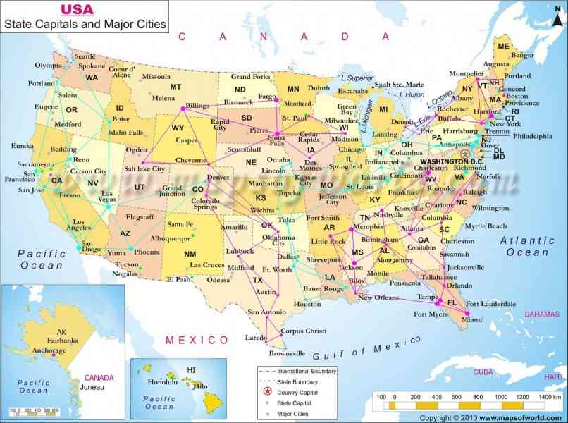 Map Of The United States Major Cities Map Holiday Travel - Map of the united states major cities
