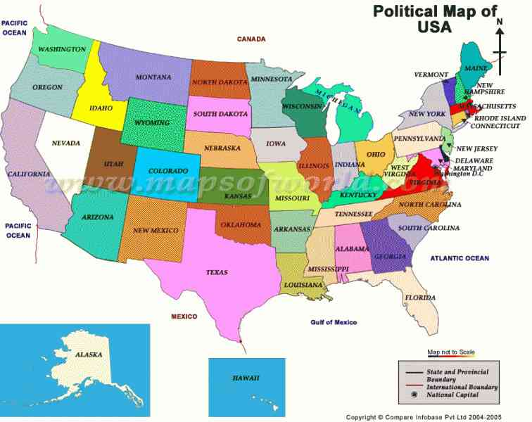 map of the united states political 214 Map Of The United States Political