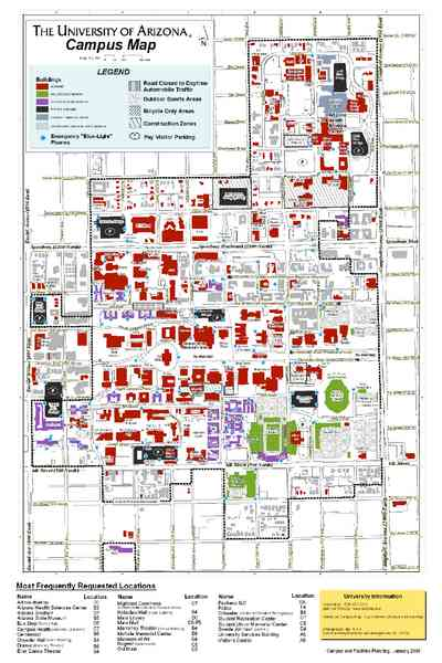 map of the university of arizona 186 Map Of The University Of Arizona