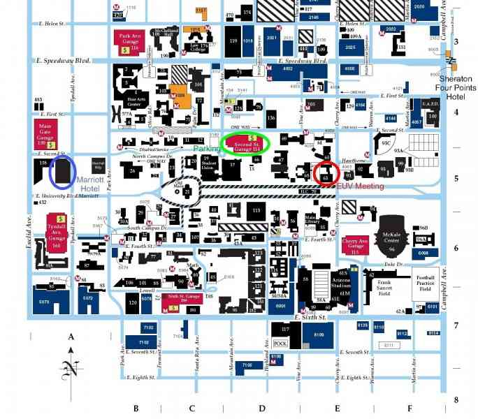 map of the university of arizona 591 Map Of The University Of Arizona
