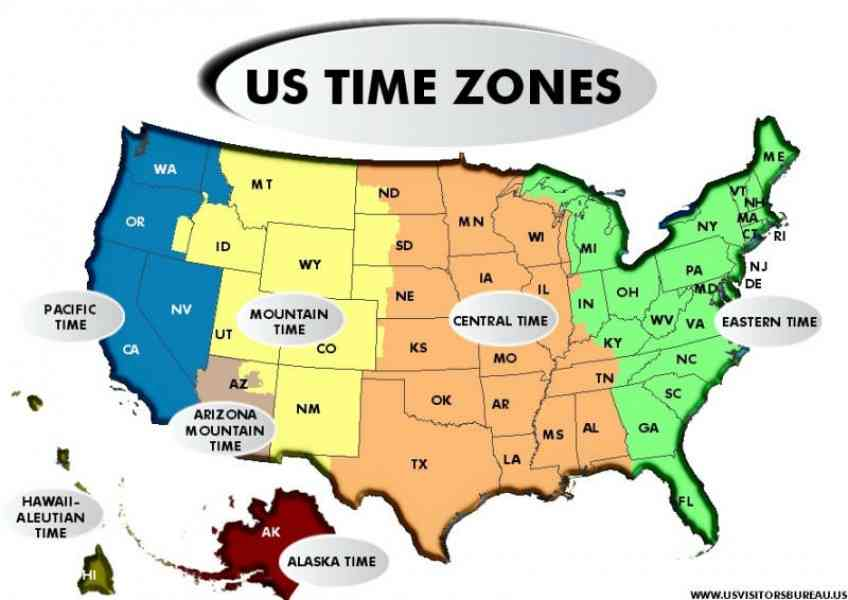 Map Of The Us With Time Zones Map Holiday Travel HolidayMapQcom - Time zone map usa