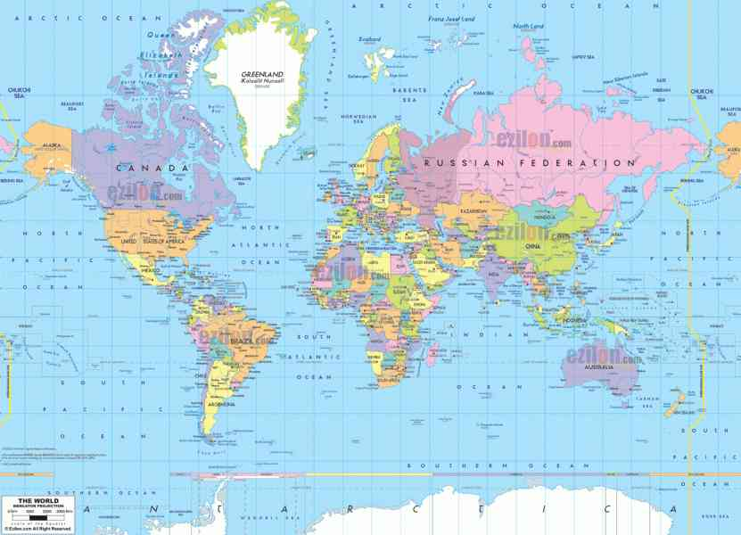 map of the world 582 Map Of The World