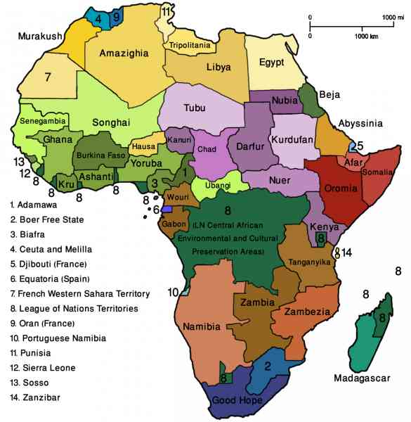 map of the world africa 174 Map Of The World Africa