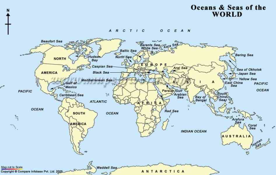 Map Of The World And Seas  Map  Holiday  Travel HolidayMapQcom