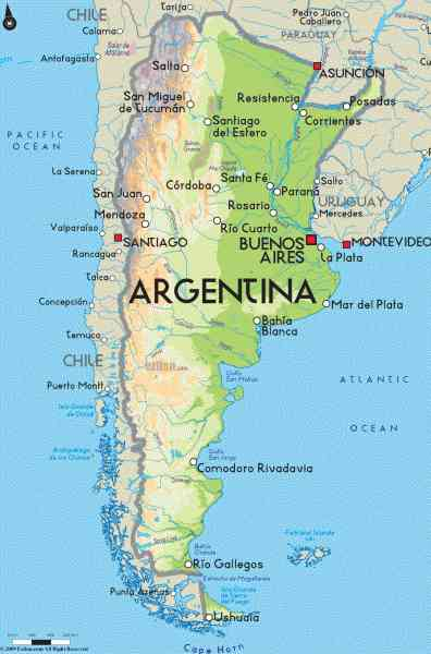 map of the world argentina 5 Map Of The World Argentina