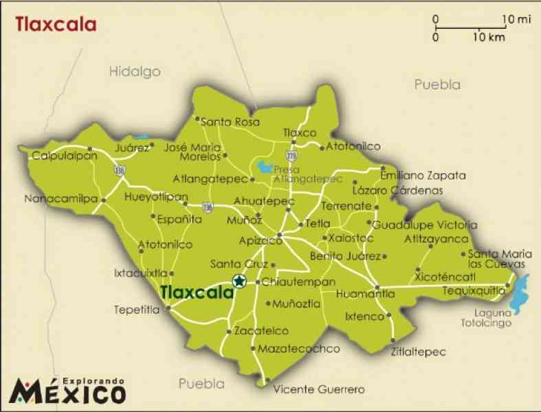 map of tlaxcala 579 Map Of Tlaxcala