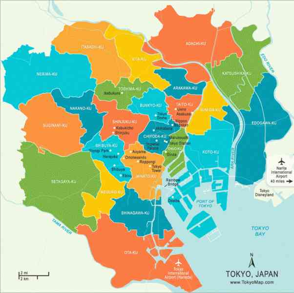 map of tokyo 359 Map Of Tokyo