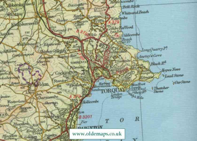 map of torquay 77 Map Of Torquay