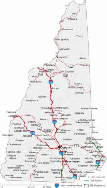 Map Of New Hampshire Towns Tablesportsdirect - Map of new hampshire towns