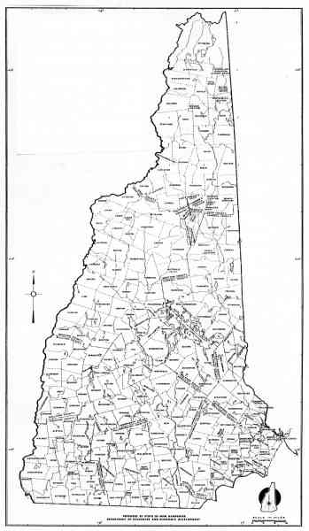 Map Of Towns In New Hampshire Map Holiday Travel HolidayMapQcom - Road map of nh