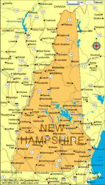 Map Of Towns In New Hampshire Map Holiday Travel HolidayMapQcom - New hampshire cities and towns map