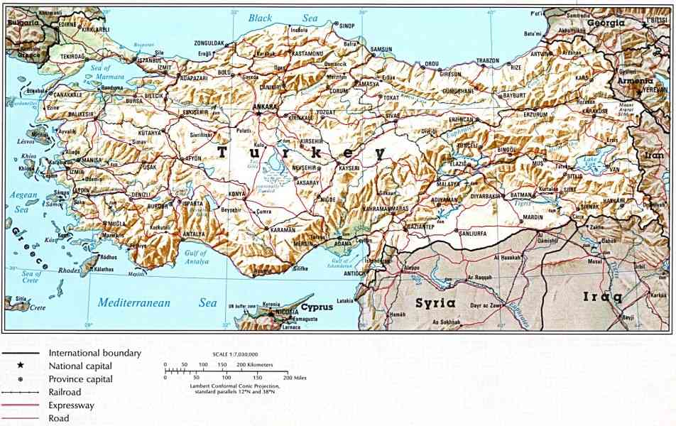 map of turkey 8 Map Of Turkey
