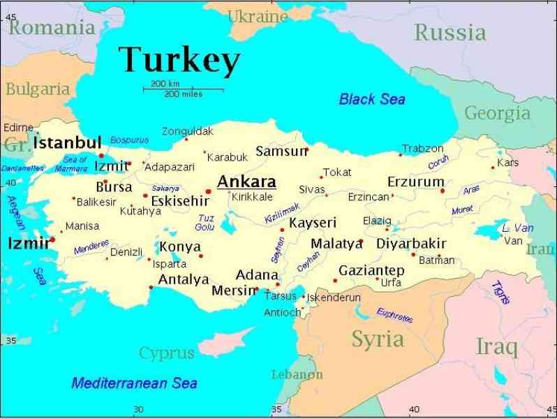 map of turkey 231 Map Of Turkey