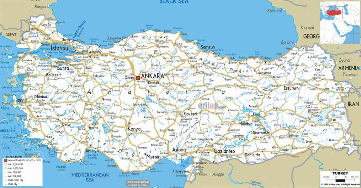 map of turkey 531 Map Of Turkey