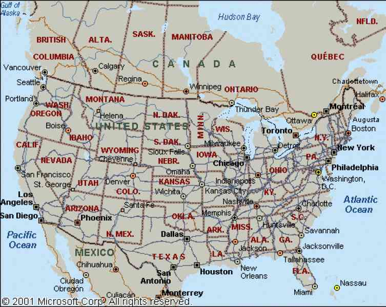 map of u s and canada 139 Map Of U S And Canada