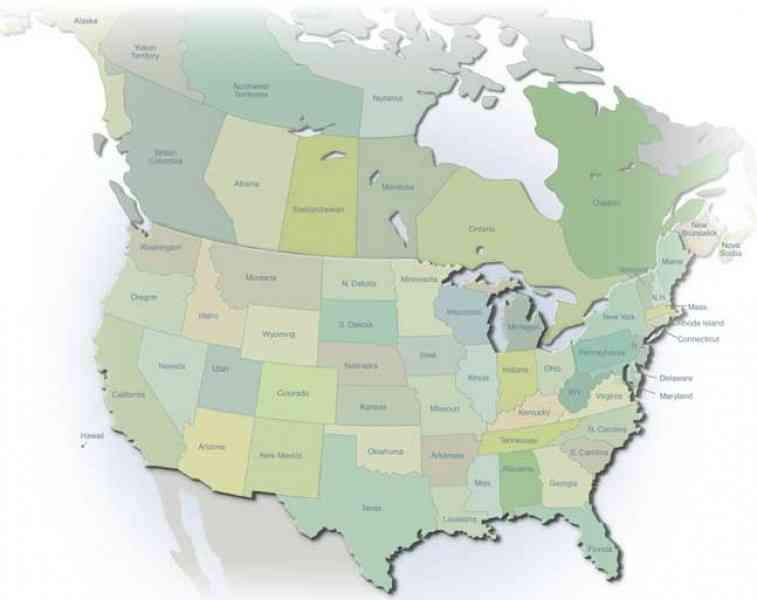 map of u s and canada 554 Map Of U S And Canada