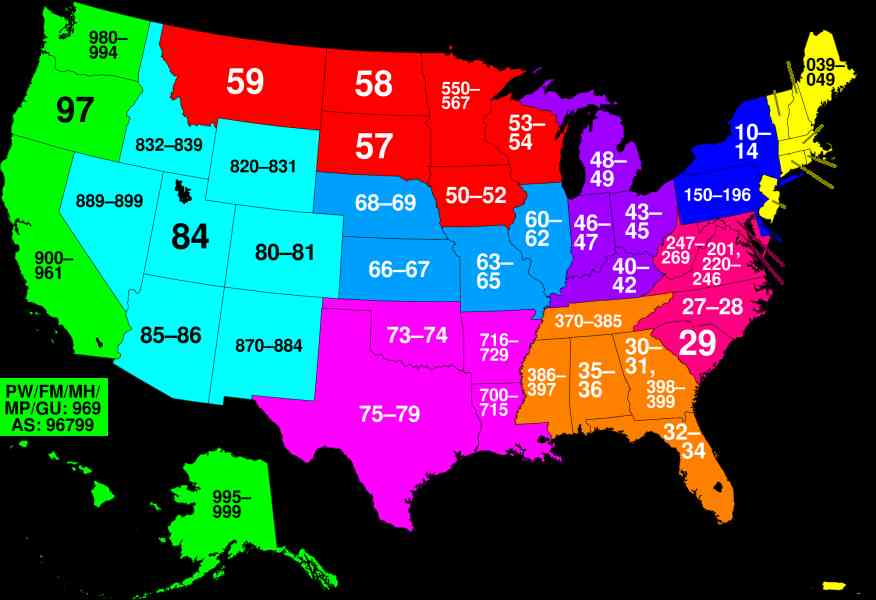 Map Of Us Zip Codes Map Holiday Travel HolidayMapQcom - Map of us zip codes