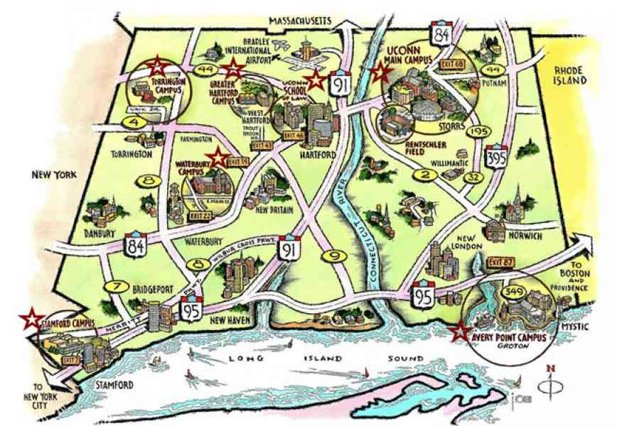 Map Of Uconn Campus  Map  Holiday  Travel HolidayMapQ