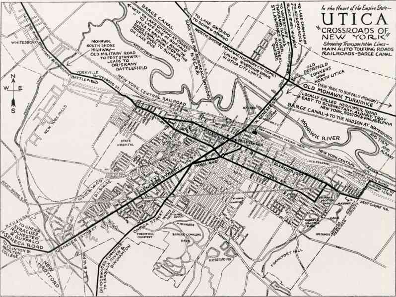 map of utica ny 84 Map Of Utica Ny