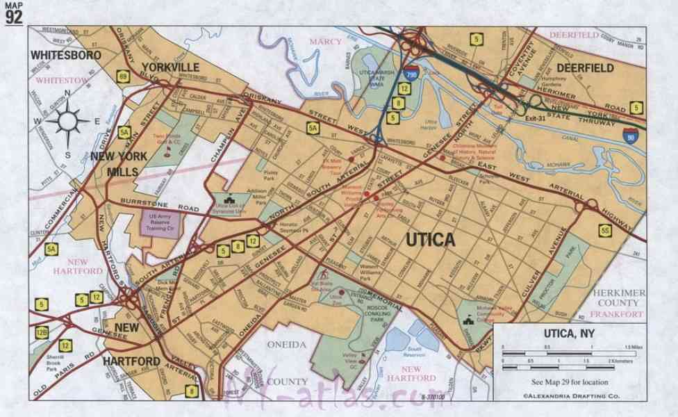 map of utica ny 120 Map Of Utica Ny