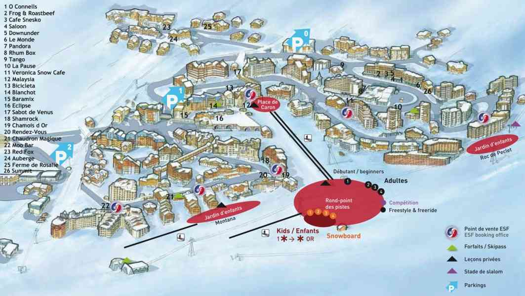 map of val thorens 78 Map Of Val Thorens