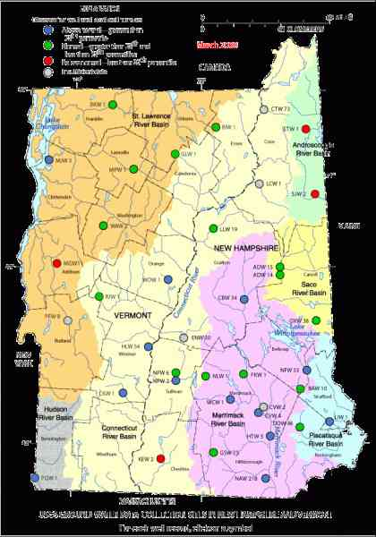 Map Of Vermont New Hampshire  Map  Holiday  Travel