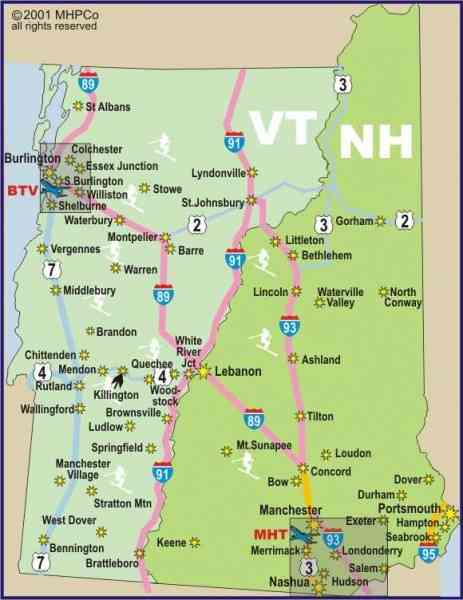 map of vermont new hampshire map holiday travel holidaymapq