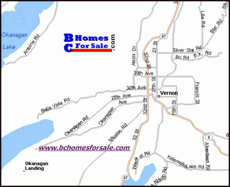 map of vernon bc 568 Map Of Vernon Bc