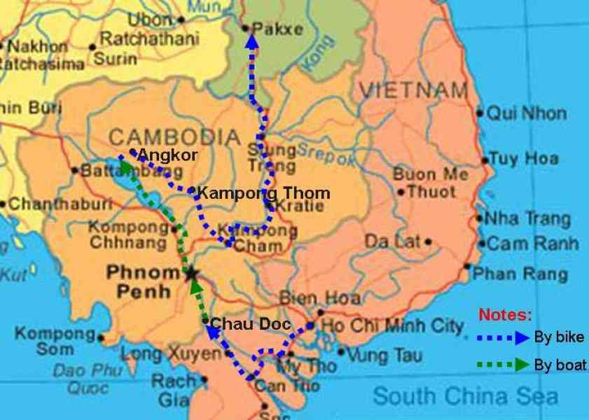 map of vietnam laos and cambodia 10 Map Of Vietnam Laos And Cambodia