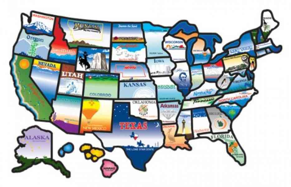 Map Of Visited States 95 Map Of Visited States