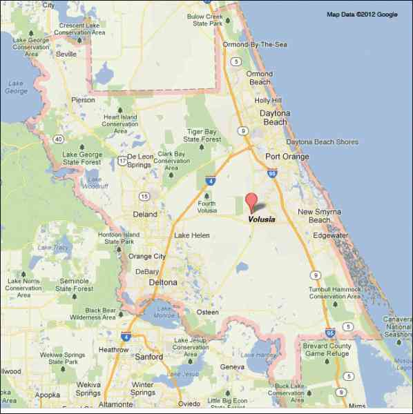 map of volusia county 497 Map Of Volusia County