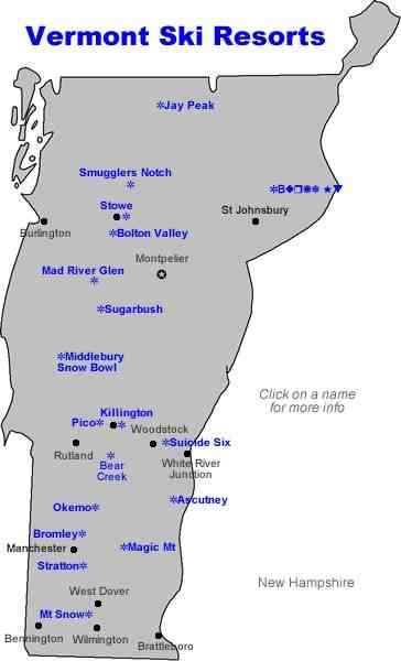 map of vt ski resorts 4 Map Of Vt Ski Resorts