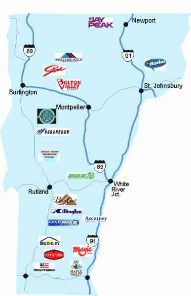 Map Of Vt Ski Resorts  Map  Holiday  Travel HolidayMapQ