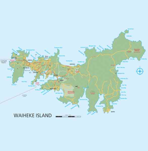 map of waiheke 7 Map Of Waiheke