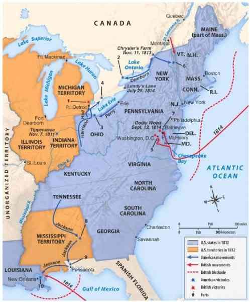 map of war of 1812 76 Map Of War Of 1812