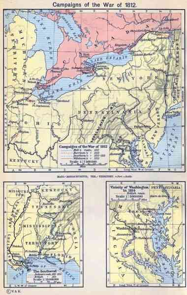map of war of 1812 396 Map Of War Of 1812