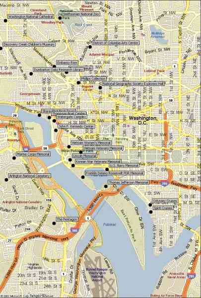 map of wash dc 785 Map Of Wash Dc